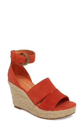 Matisse Cha Cha Espadrille Wedge Sandal, Orange