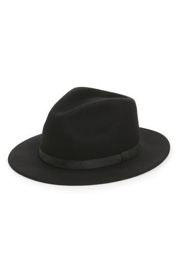 Brixton Messer Ii Felted Wool Fedora - Black