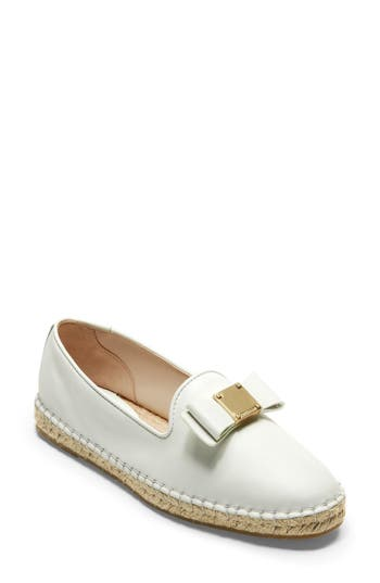 Cole Haan Tali Bow Espadrille Flat, White