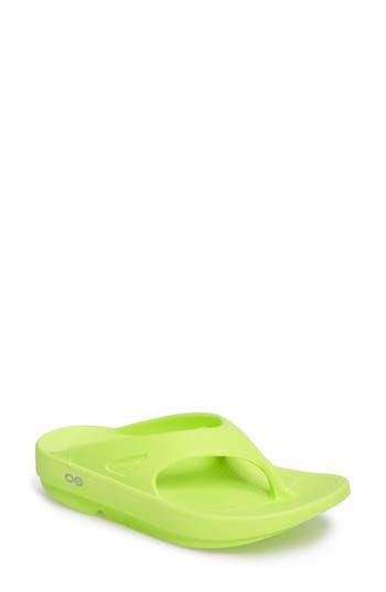 Women's Oofos Ooriginal Sandal, Size 6 M - Green