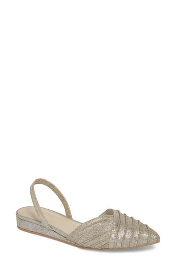 Seychelles Highly Touted Pointy Toe Flat, Metallic