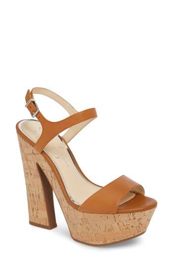 Jessica Simpson Divella Platform Sandal, Brown