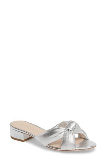 Women's Loeffler Randall Elsie Knotted Slide Sandal, Size 8 M - Metallic