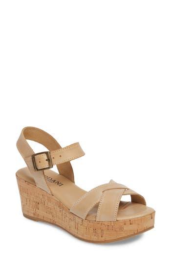Women's Cordani Candy Wedge Sandal, Size 8.5US / 39EU - Beige