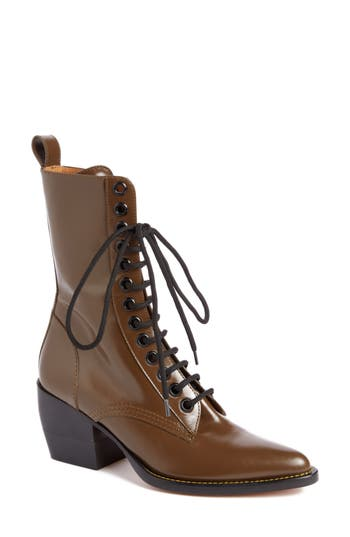 Chloe Rylee Lace-Up Boot, Brown
