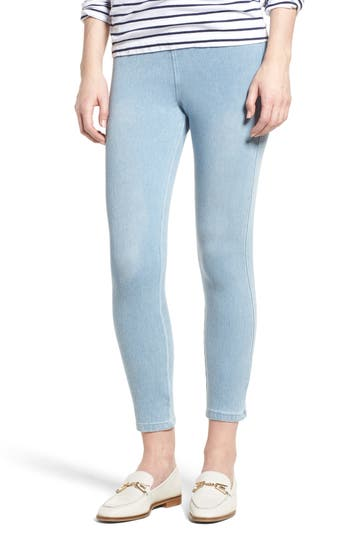 Lysse Toothpick High Rise Crop Denim Leggings, Blue