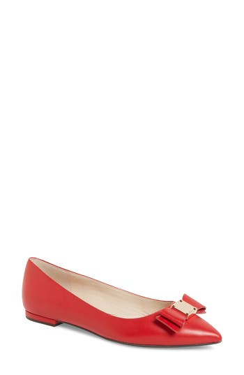 Cole Haan Tali Bow Skimmer Flat, Red