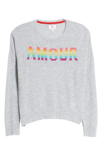 Sundry Amour Wool & Cashmere Sweater, Grey