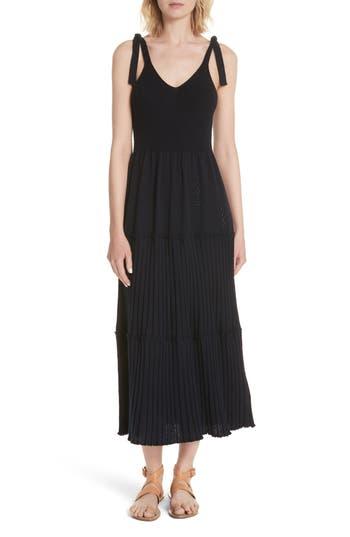 La Vie Rebecca Taylor Ribbed Knit Dress, Blue