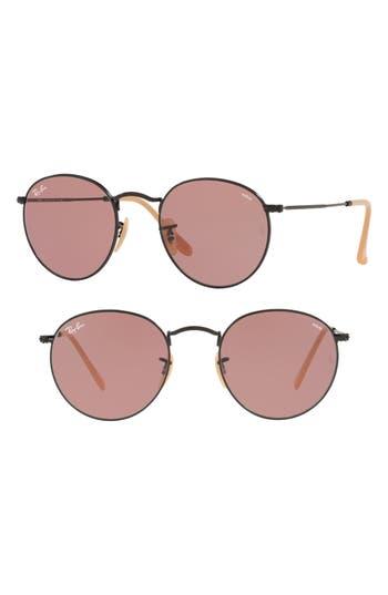 Ray-Ban 5m Evolve Photochromic Round Sunglasses - Violet