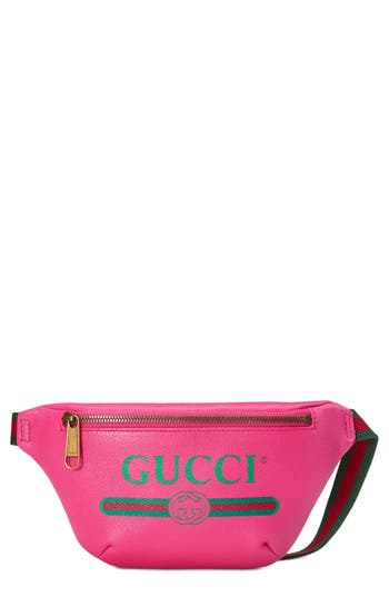 Gucci Pink Leather Logo Fanny Pack In 8842 | ModeSens