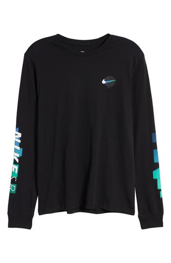 Nike Sb Globe Graphic Long Sleeve T-Shirt, Black