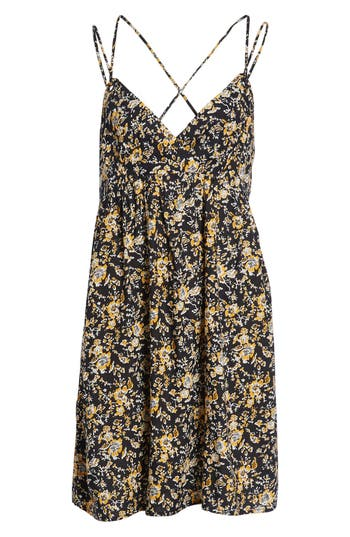 Volcom You Want This Strappy Dress, Yellow