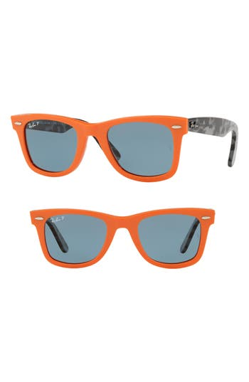 Ray-Ban Standard Classic Wayfarer 50Mm Polarized Sunglasses - Orange