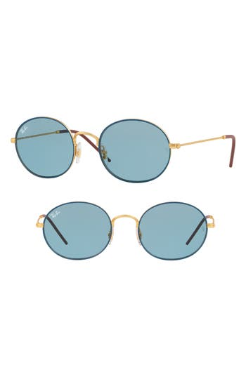 Ray-Ban Youngster 5m Oval Sunglasses - Light Blue Solid