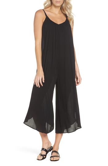 Elan Culotte Jumper Cover-Up, Black