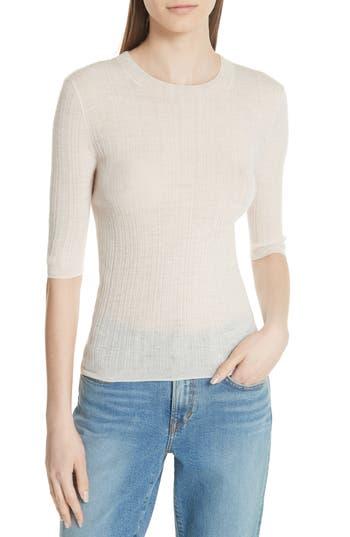 Vince Shrunken Merino Wool Sweater, Beige