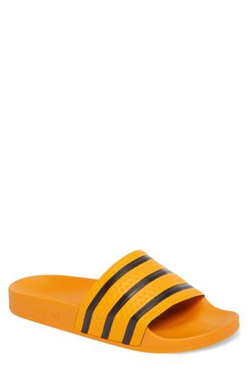 9d334299ae08e Adidas Originals Adilette Sliders In Yellow Cq3099 - Yellow In Gold ...