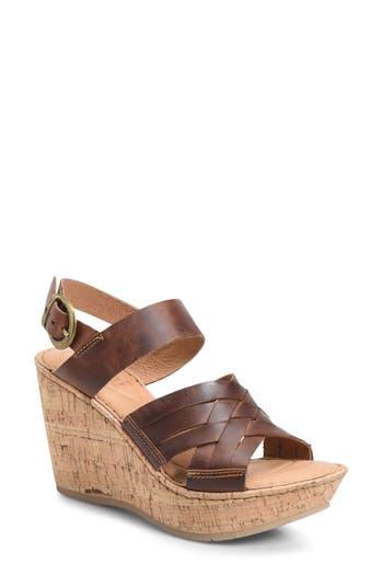 B?rn Surya Wedge Sandal, Brown
