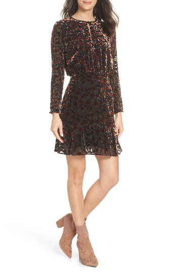 Sam Edelman Velvet Burnout Dress, Red