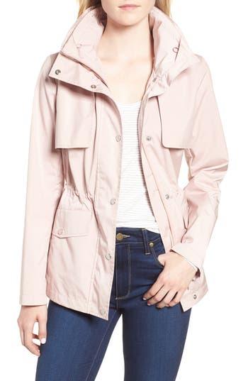 Petite Cole Haan Signature Gunflap Packable Rain Jacket, Pink