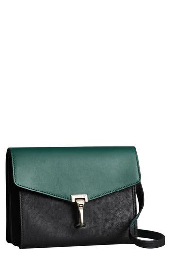 Burberry Small Macken Colorblock Leather Crossbody Bag - Green