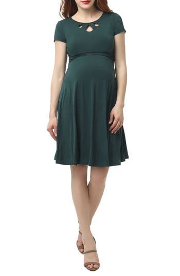 Vintage Style Maternity Clothes Womens Kimi And Kai Karly Maternity Dress $88.00 AT vintagedancer.com