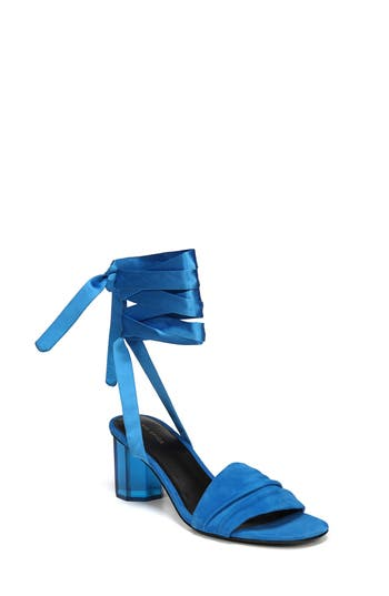 Via Spiga Nova Ankle Wrap Sandal- Blue