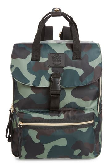 T-Shirt & Jeans Camouflage Nylon Backpack - Green