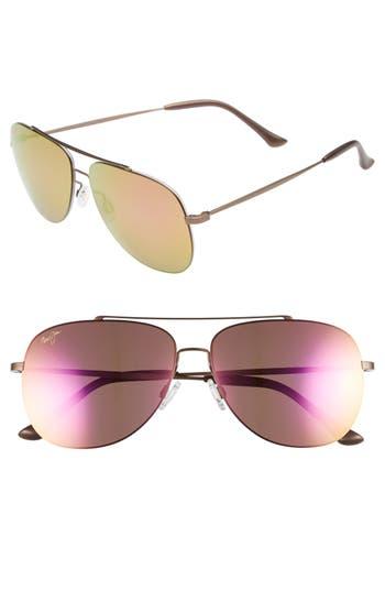 Maui Jim Cinder Cone 5m Polarizedplus2 Aviator Sunglasses -