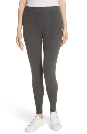 Eileen Fisher Ribbed Tencel Lyocell Blend Leggings, Grey