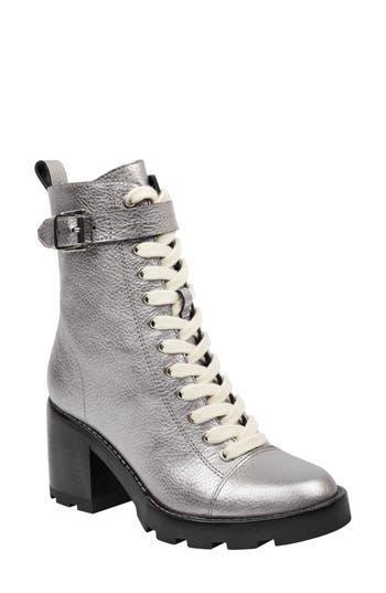 Marc Fisher Ltd Waren Combat Boot, Metallic