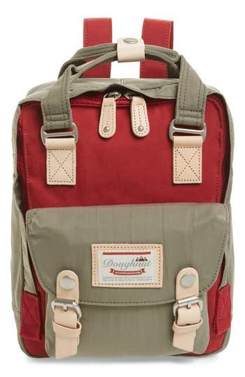 DOUGHNUT Mini Macaroon Colorblock Water Resistant Backpack - Pink in Orange/ Peach