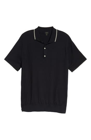 J.crew Tipped Sweater Polo, Blue