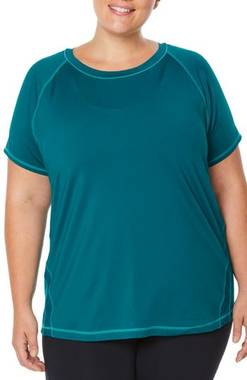 Plus Size Shape Activewear G-Force Tee, Green