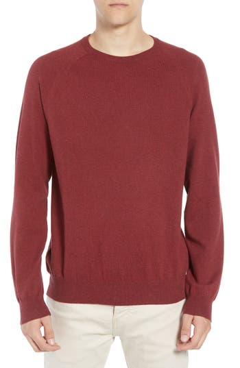 French Connection Regular Fit Stretch Cotton Crewneck Sweater, Red