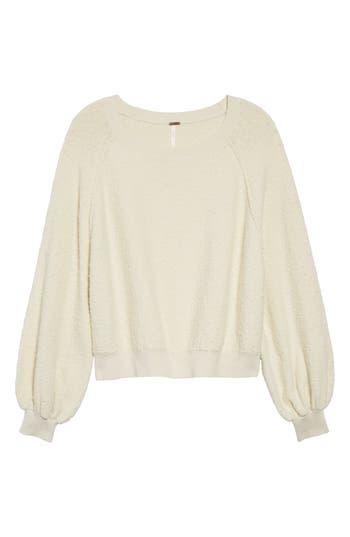 Free People Found My Friend Sweatshirt, Ivory