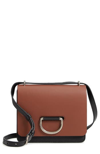 Burberry Medium D-Ring Colorblock Leather Crossbody Bag - Brown