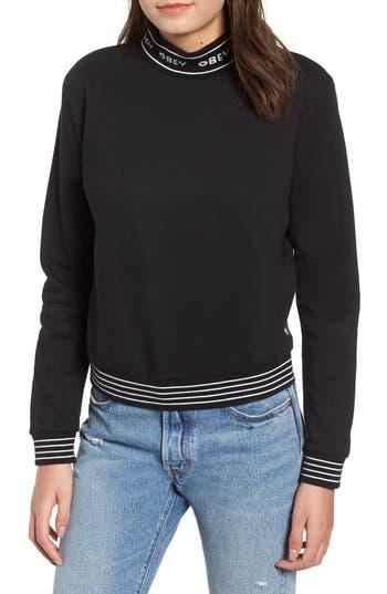 Quincy Cotton Blend Sweatshirt in Black