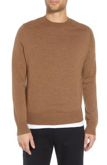 Vince Regular Fit Ottoman Stitch Wool Sweater, Beige