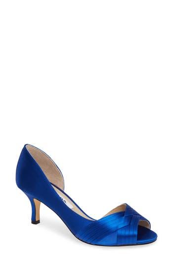 Nina Contesa Open Toe Pump, Blue