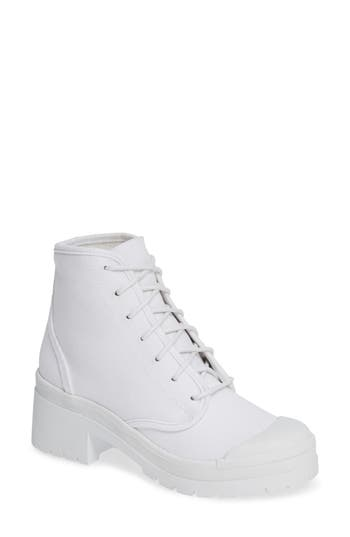 Jeffrey Campbell Tour Hiker Boot- White