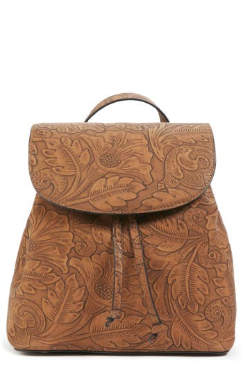 Sole Society Hawna Faux Leather Backpack - Brown