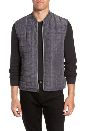 W.r.k Romeo Plaid Quilted Vest, Grey
