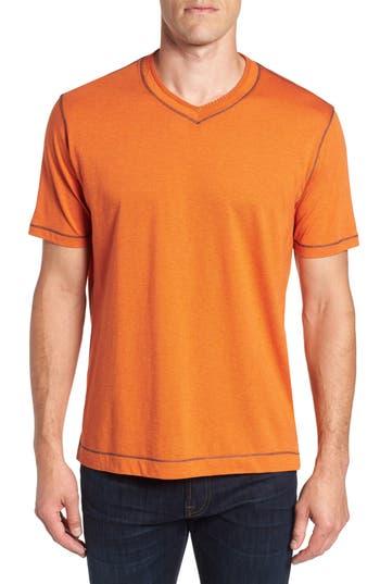 Robert Graham Traveler V-Neck T-Shirt, Orange