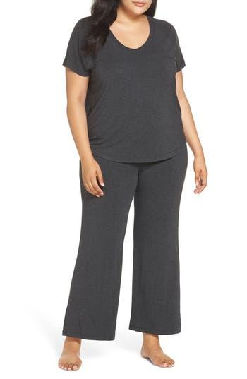 Plus Size Nordstrom Lingerie Breathe Pajamas, Grey