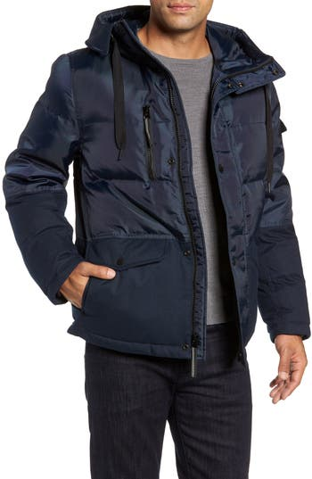 Marc New York Stanton Oxford Puffer Jacket, Blue