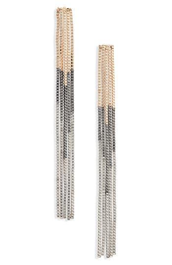 60s -70s Jewelry – Necklaces, Earrings, Rings, Bracelets Womens Bp. Ombre Fringe Earrings $19.00 AT vintagedancer.com