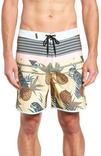 Hurley Phantom Back Bay Board Shorts, Yellow