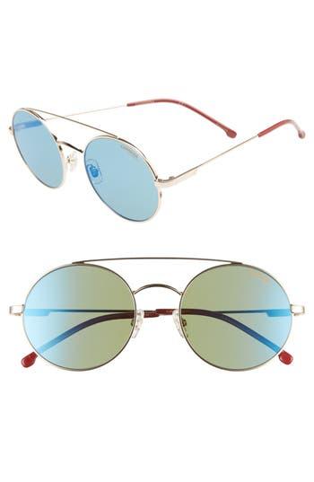 Carrera Eyewear 51Mm Round Sunglasses - Gold/red